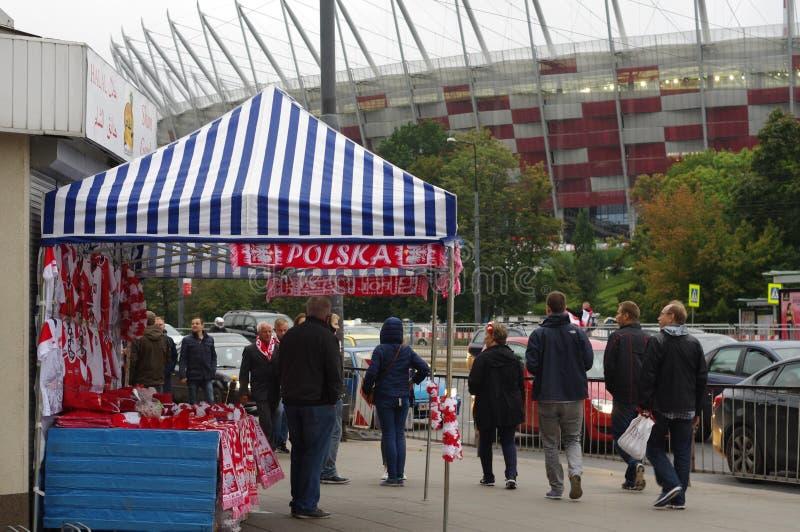 全国体育场在华沙在波兰 免版税库存图片