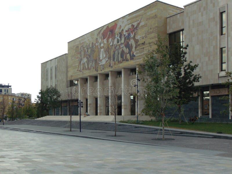 全国历史博物馆,地拉纳,阿尔巴尼亚2018年 图库摄影