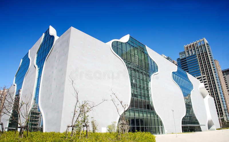 全国台中大都会歌剧院议院,台中剧院,设计由建筑师 库存照片