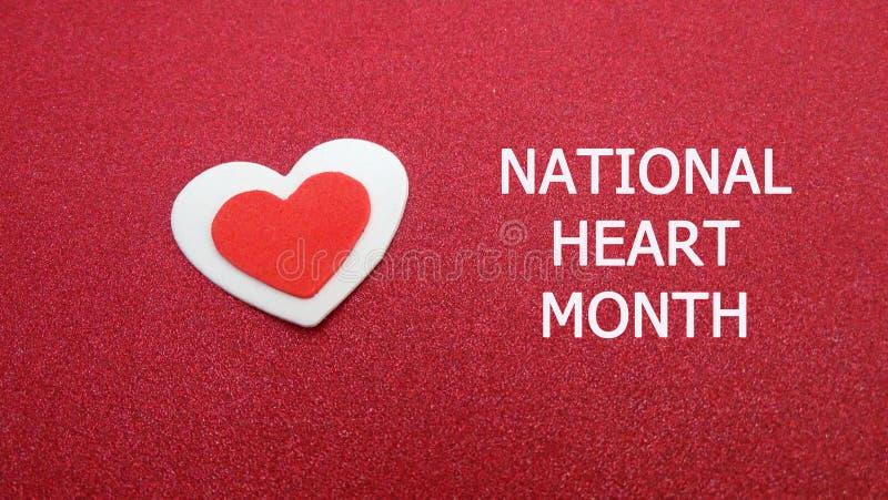 全国心脏月标志 免版税库存照片
