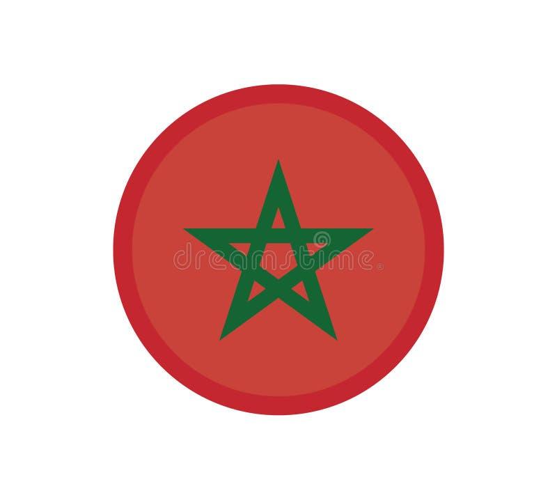 全国正确摩洛哥旗子正式颜色和比例 全国摩洛哥旗子传染媒介例证 EPS10 库存例证