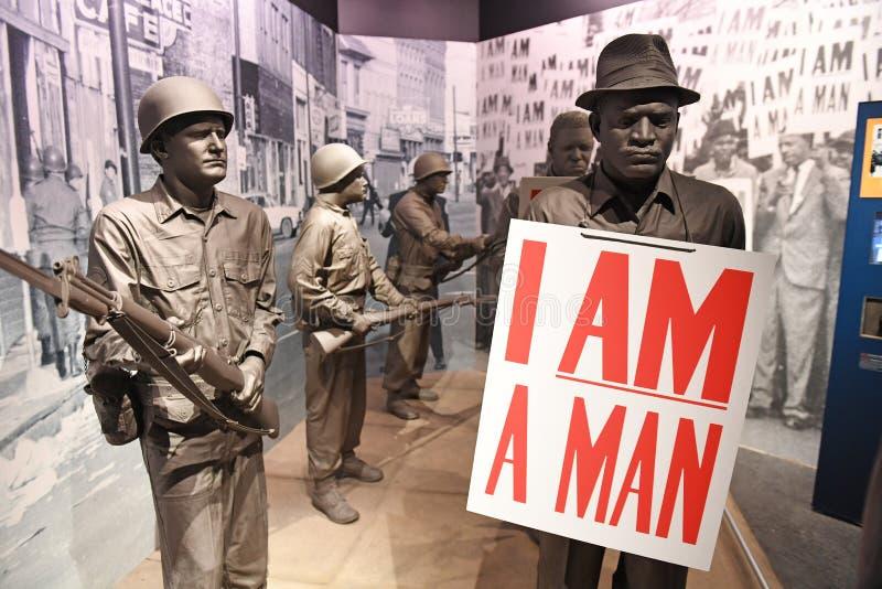 全国民权博物馆在孟菲斯田纳西 库存图片