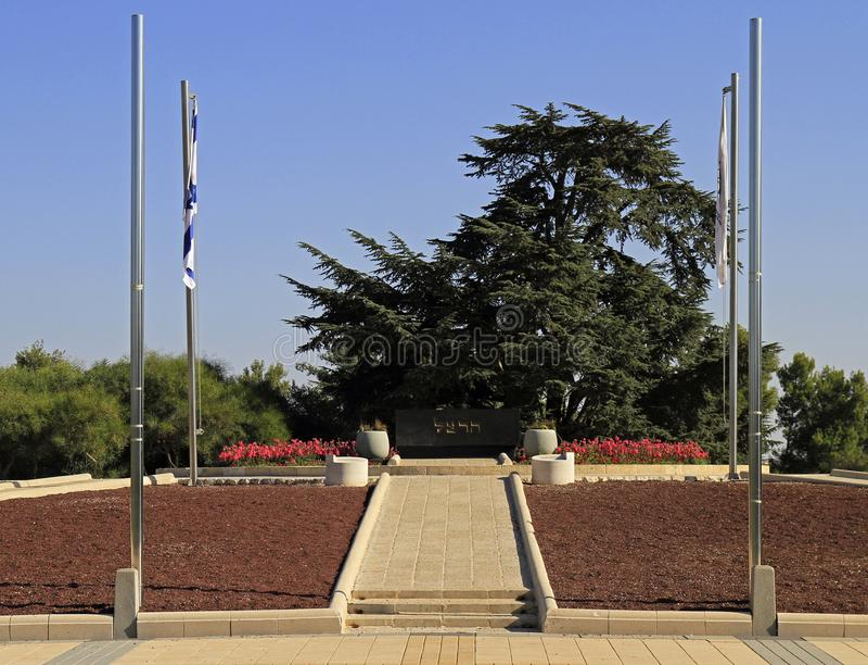 全国民用公墓在耶路撒冷 免版税库存照片