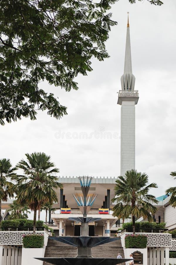 全国清真寺在吉隆坡,马来西亚 免版税库存图片