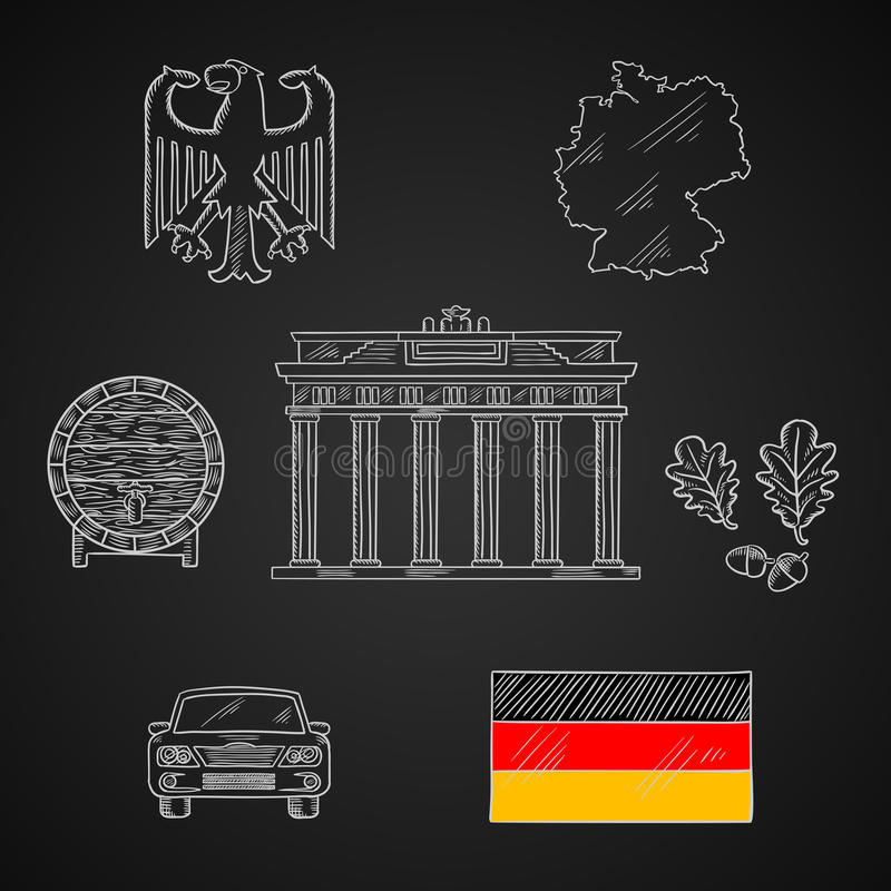 全国的德国和旅行象 皇族释放例证