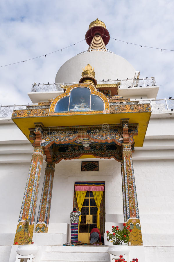 全国纪念Chorten在不丹 库存照片