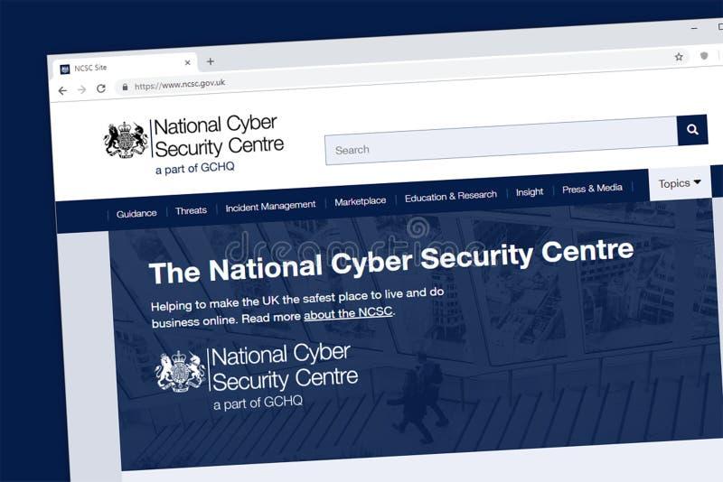 全国网络安全中心网站主页 向量例证
