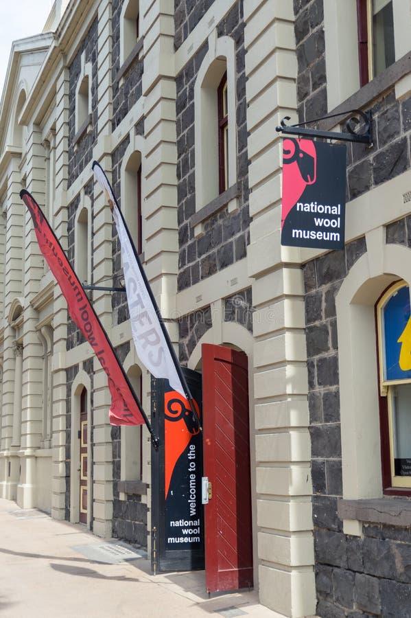 全国羊毛博物馆大厦在吉朗,在澳大利亚 库存图片