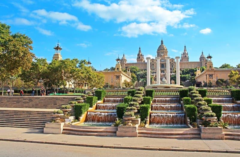 全国美术馆在巴塞罗那,西班牙 免版税库存图片