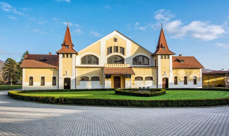 全国育马场, Topolcianky,斯洛伐克历史建筑  免版税库存图片
