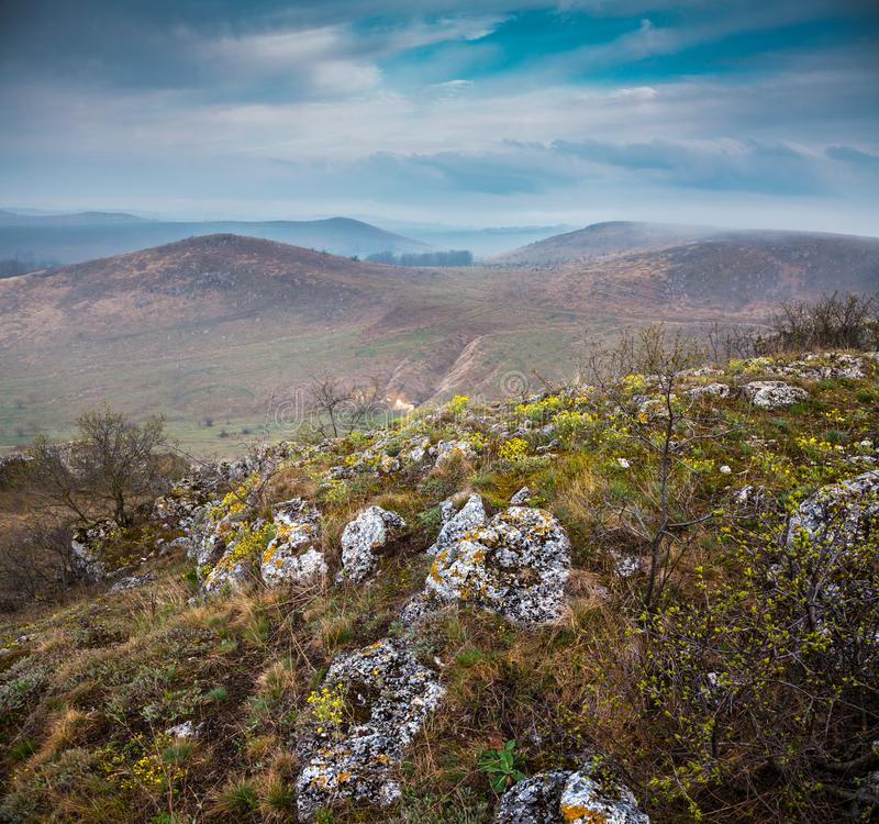全国自然公园Podilski Tovtry 库存照片