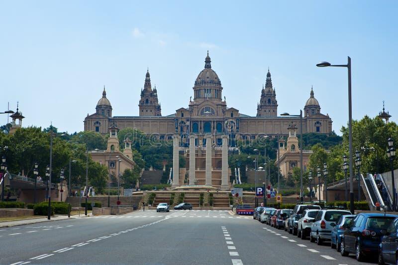 全国艺术馆在全国P的巴塞罗那 免版税库存照片
