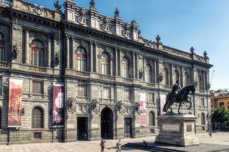 全国艺术馆墨西哥城  免版税库存照片