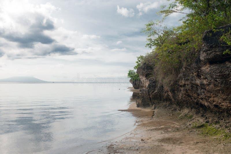 全国西部公园的海滩在巴厘岛 免版税库存图片