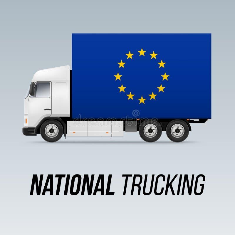全国送货卡车 皇族释放例证