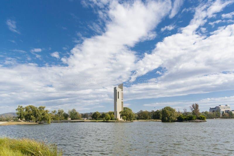 全国钟琴钟楼,堪培拉,澳大利亚 免版税图库摄影