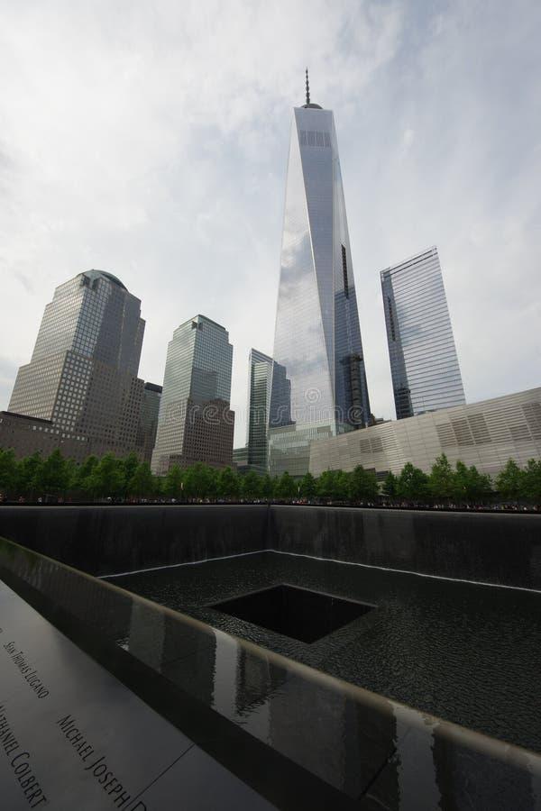 全国9月11日在香港世界贸易中心的9/11纪念品 库存照片