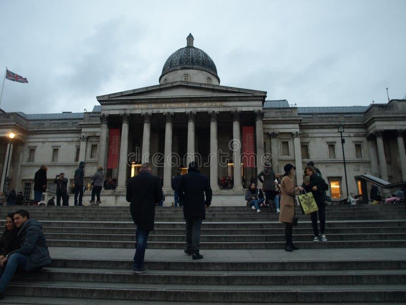 全国画象画廊伦敦特拉法加广场 免版税库存图片