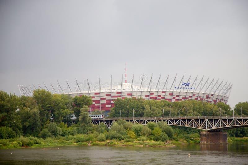 全国footbal体育场在华沙在波兰,欧洲 图库摄影