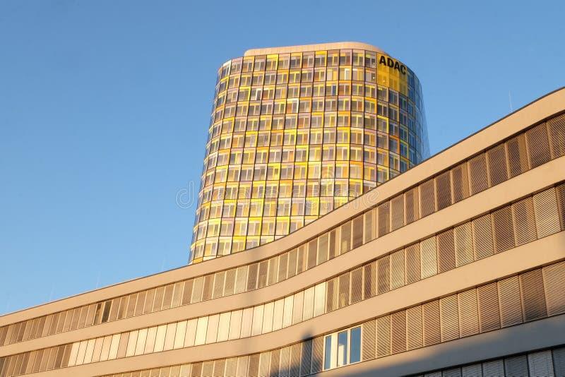 全德汽车俱乐部新的总部在慕尼黑 免版税库存照片