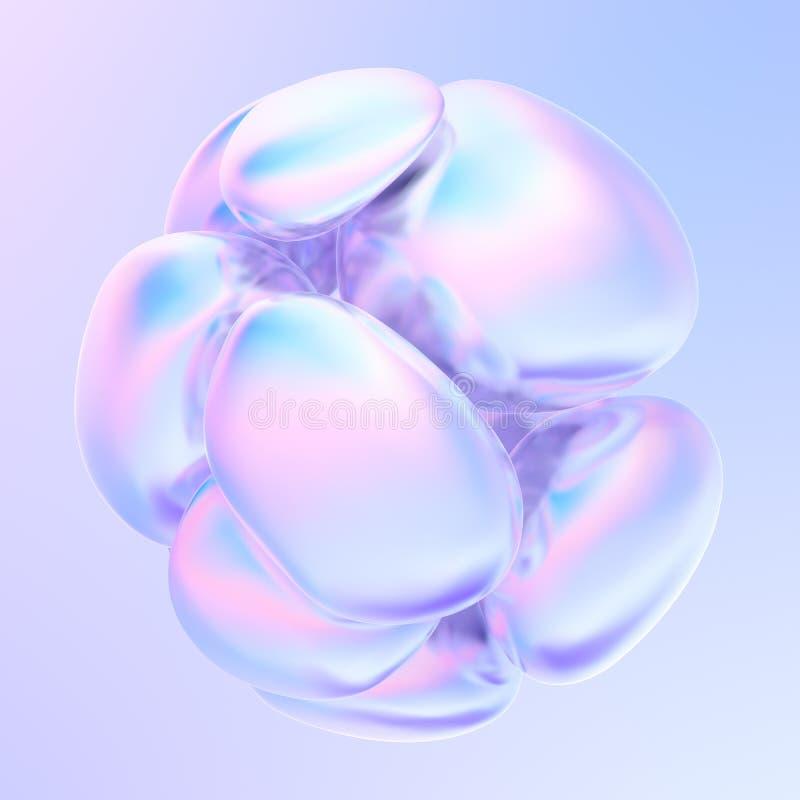 全息抽象流体气泡液体形状 向量例证