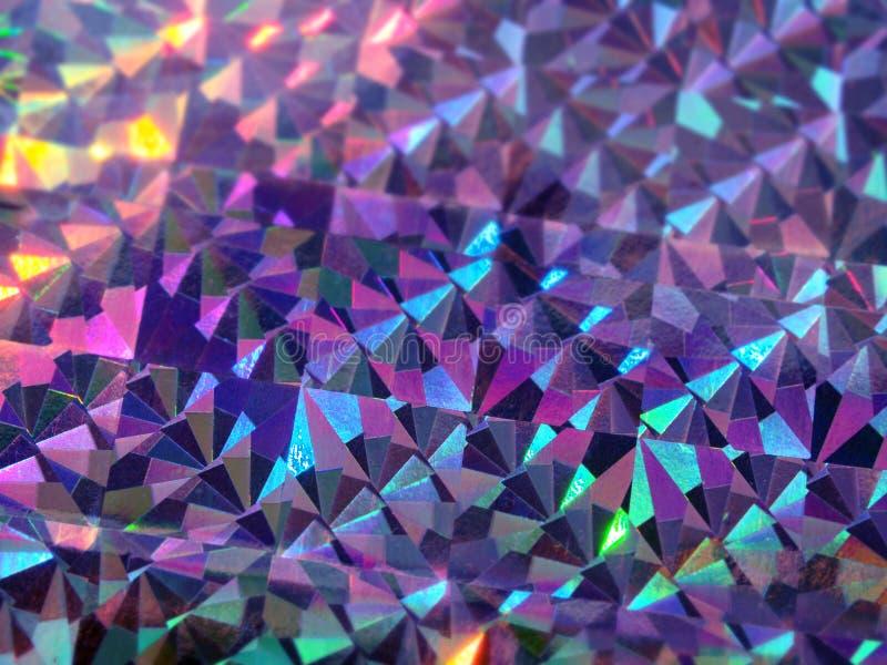 全息照相的五颜六色的紫色紫罗兰色光欢乐背景 库存图片