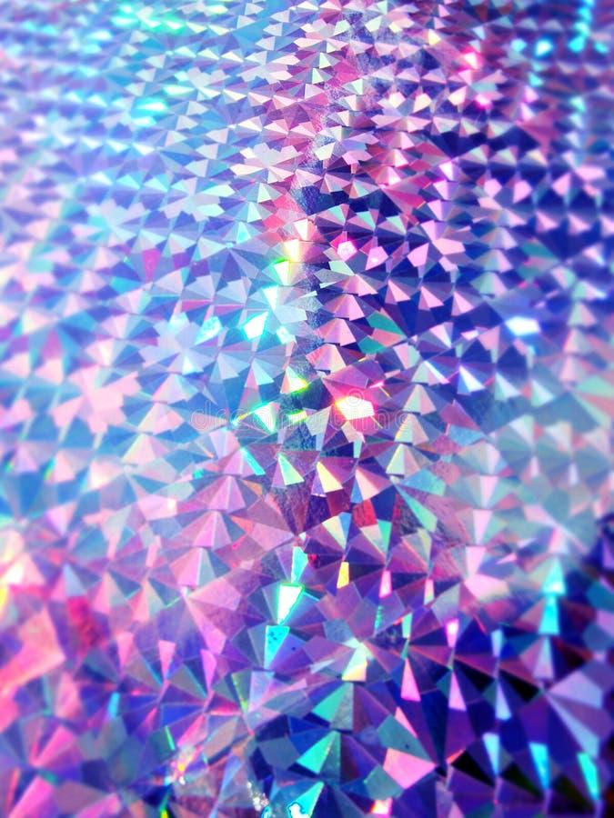 全息照相的五颜六色的紫色紫罗兰色光欢乐背景 库存照片