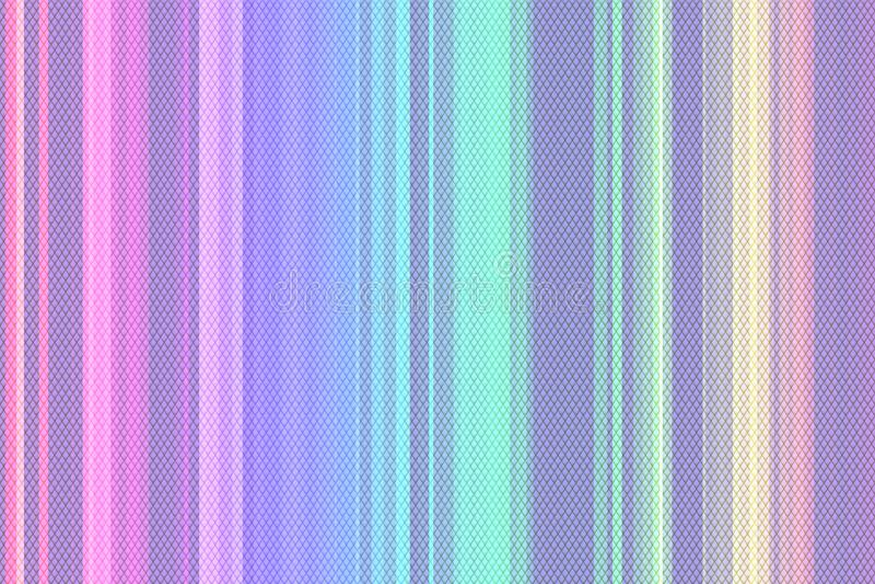 全息照相的呈虹彩表面起皱纹的箔柔和的淡色彩 抽象箔80s纹理全息图背景与多种颜色的 90s pa 库存例证