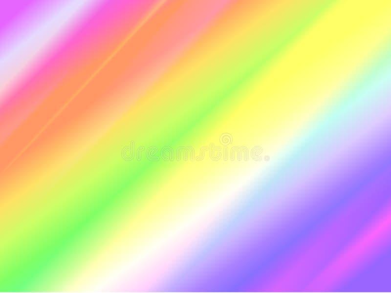 全息照相的箔和呈虹彩彩虹纹理背景 皇族释放例证