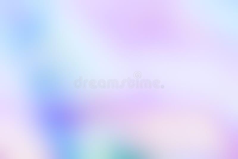 全息照相的箔在淡色霓虹时髦颜色设计的被弄脏的抽象背景 库存照片