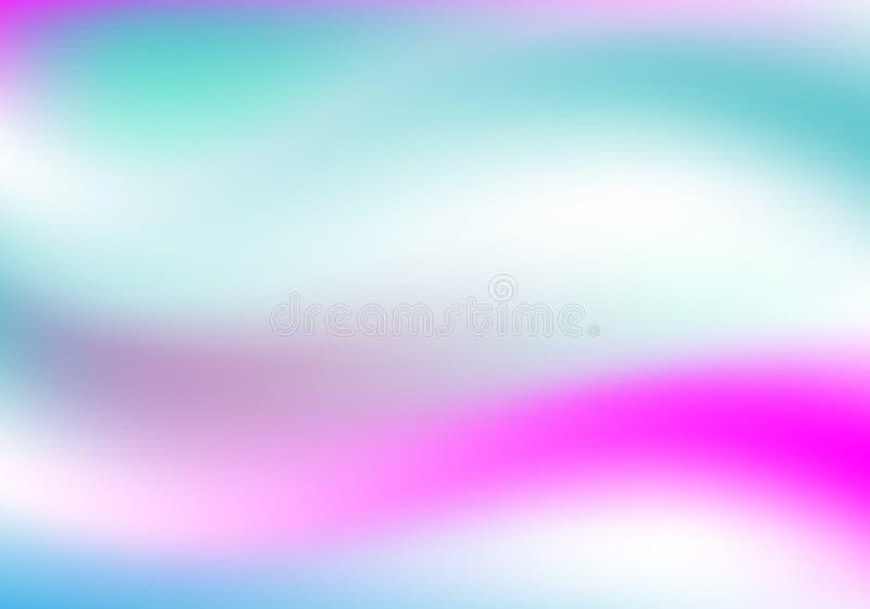 全息照相的背景 霍洛闪耀的盖子 呈虹彩梯度 抽象软的淡色背景 时髦创造性的传染媒介 皇族释放例证