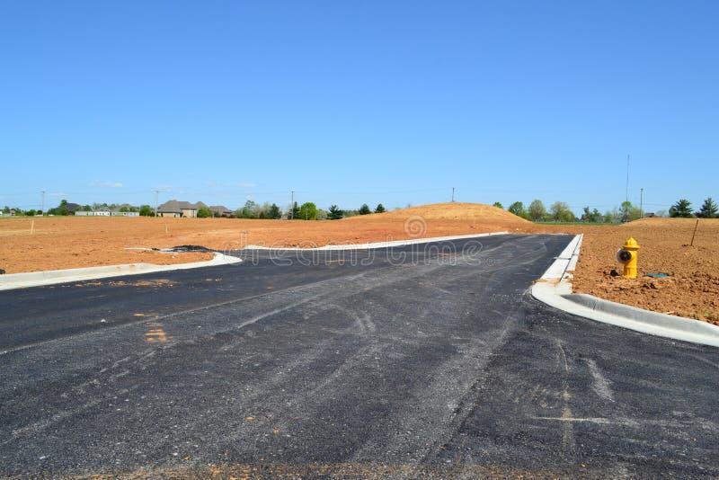 全新的邻里发展建设中 免版税库存图片
