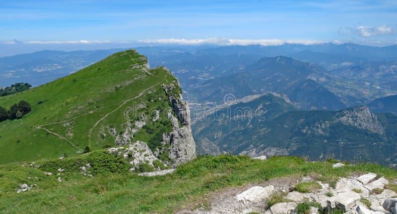 全景从从列斯Trois Becs,法国 免版税图库摄影