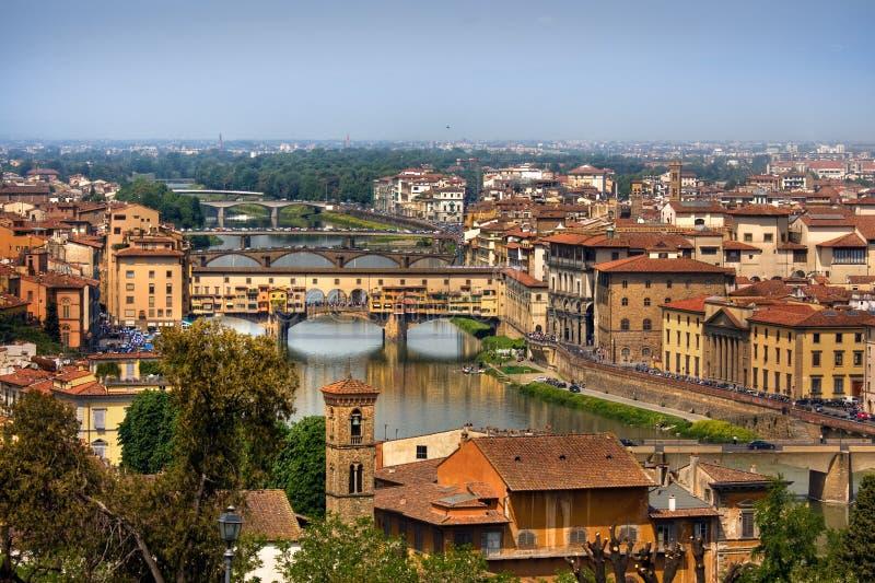 全景佛罗伦萨的横向 免版税库存照片