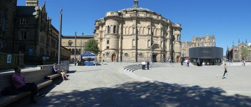 全景全景Bristro广场Teviot行霍尔研究Mcewan大厅爱丁堡苏格兰大学生协会教育 库存照片