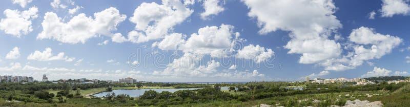 全景圣马丁,荷属圣马丁:加勒比海滩 库存照片