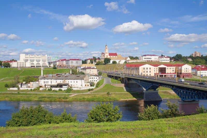 全景在哥罗德诺,白俄罗斯 库存图片