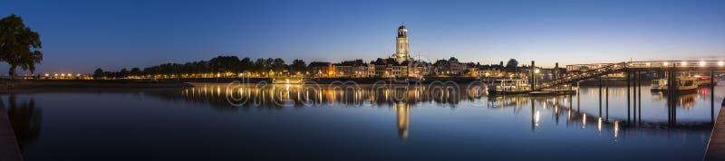 全景在IJssel的代芬特尔 库存照片