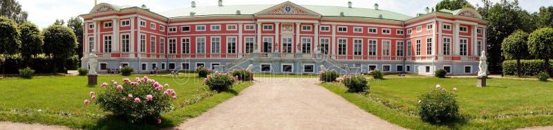 全景宫殿在Kuskovo (莫斯科地区,俄罗斯) 库存图片