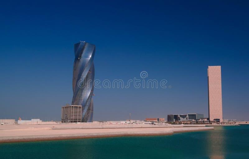 全景对麦纳麦市,巴林的都市风景wiew 库存图片