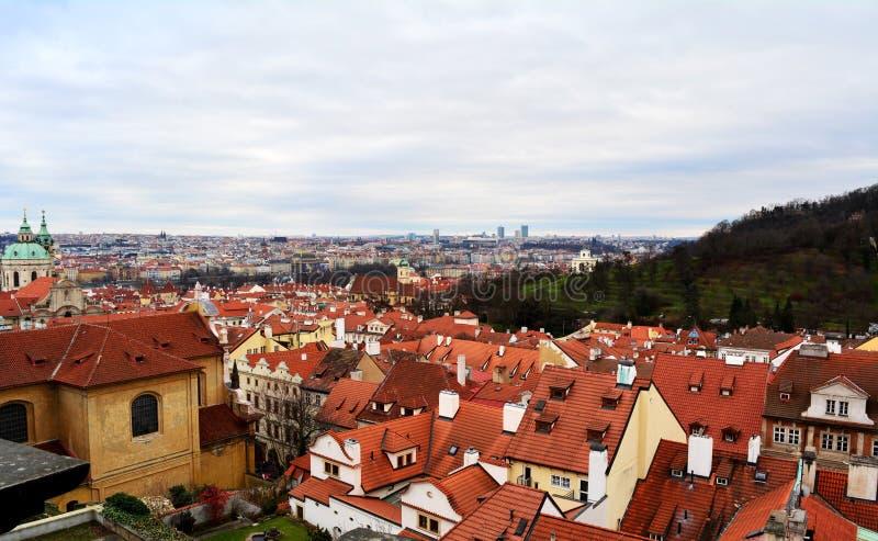 全景布拉格视图 免版税库存图片
