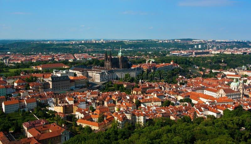 全景布拉格视图 免版税库存照片