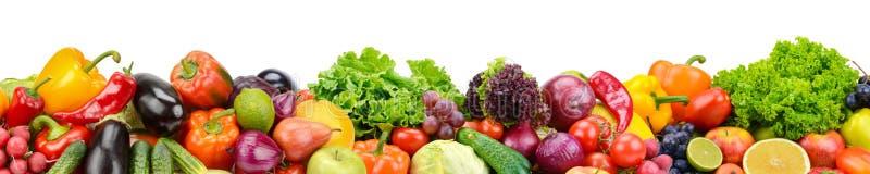 全景收藏新鲜的水果和蔬菜skinali iso的 免版税图库摄影