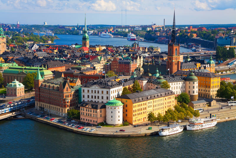 全景斯德哥尔摩瑞典 免版税库存图片