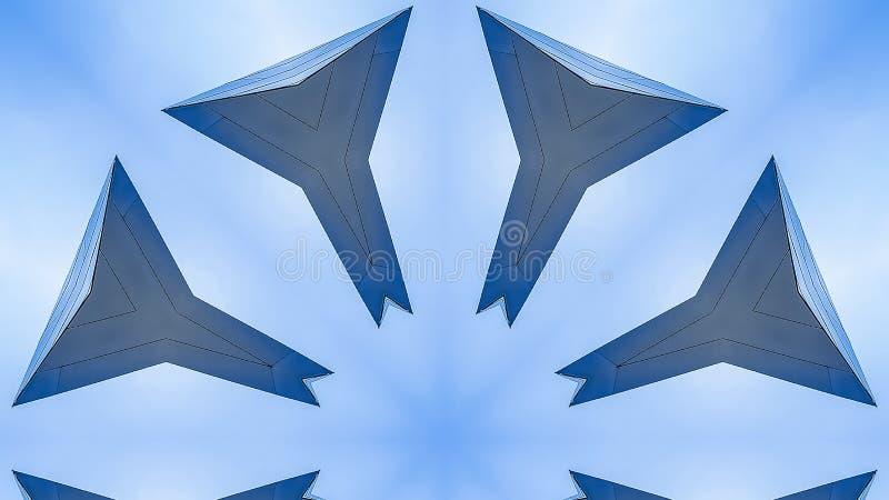 全景星形状用八边做了由金属 向量例证