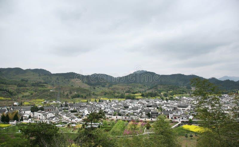 全景村庄xidi 图库摄影