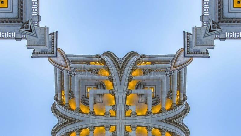 全景框架分数维方形的形状由犹他首都做了 库存图片