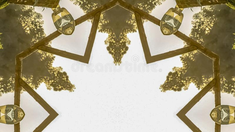 全景框架婚姻的装饰把变成设计元素 库存例证