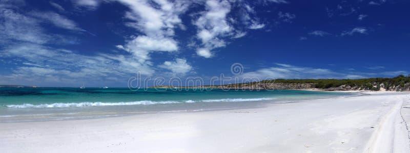 全景的海滩 免版税库存图片