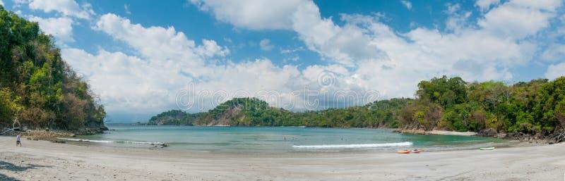 全景的海滩 免版税库存照片